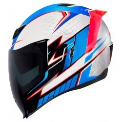 Casco Icon Airflite Ultrabolt Glory Azul Blanco Rojo